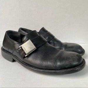 Versace Versus Italian Leather Strap Loafers